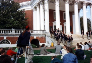 Tyler on crutches with fez in 1994