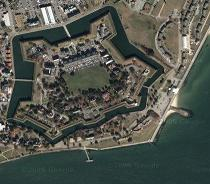 satellite image of ft monroe