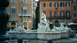 This is one of the three lovely fountains in the Piazza.