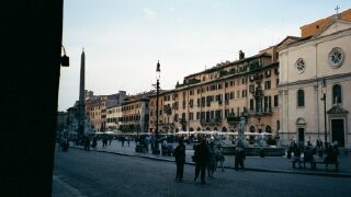 This view of the Piazza from its southern end captures the beauty of the buildings surrounding the Piazza.