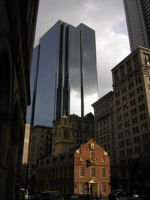modernity in Boston's business district
