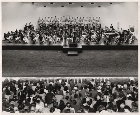 The Virginia Glee Club in concert at the 1947 Virginia Music Festival.