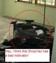 i think this shopvac has a bad motivator!
