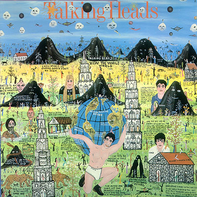The cover of the Talking Heads <i>Little Creatures</i> album, by the Rev. Howard Finster (1916-2001).
