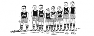UVA Men's Basketball Team, in 1912 Corks and Curls