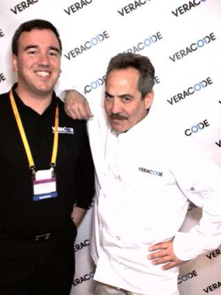 The author with Larry Thomas, Seinfeld's Soup Nazi, in 2013.