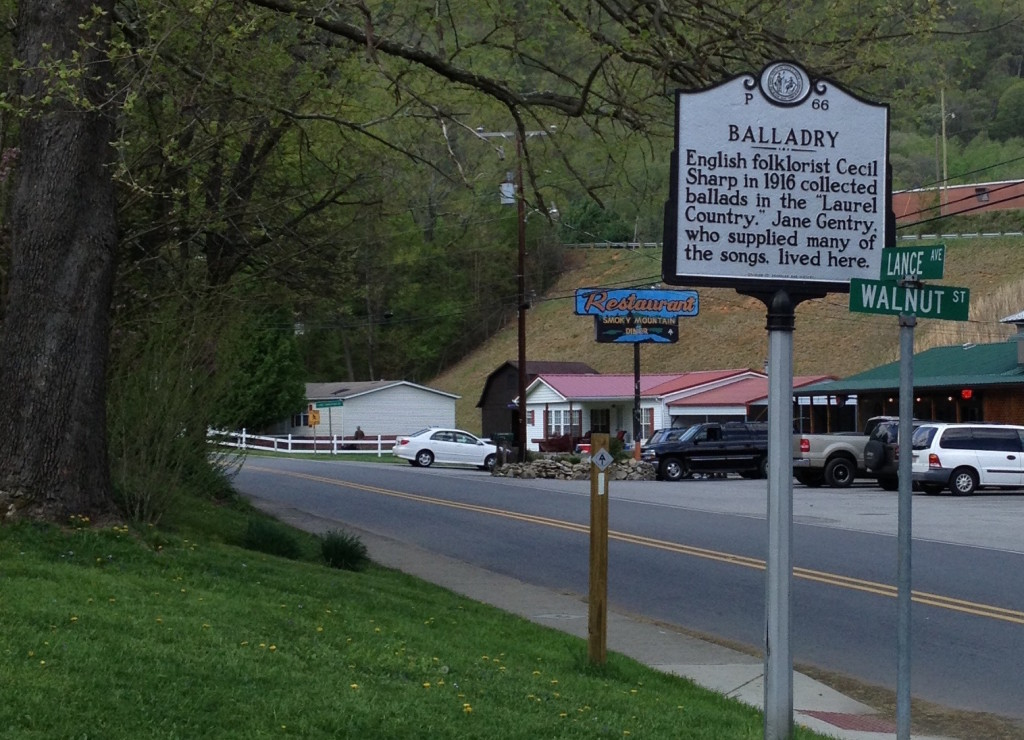 Historical marker in Hot Springs, North Carolina