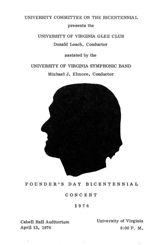 Bicentennial Founder's Day concert program