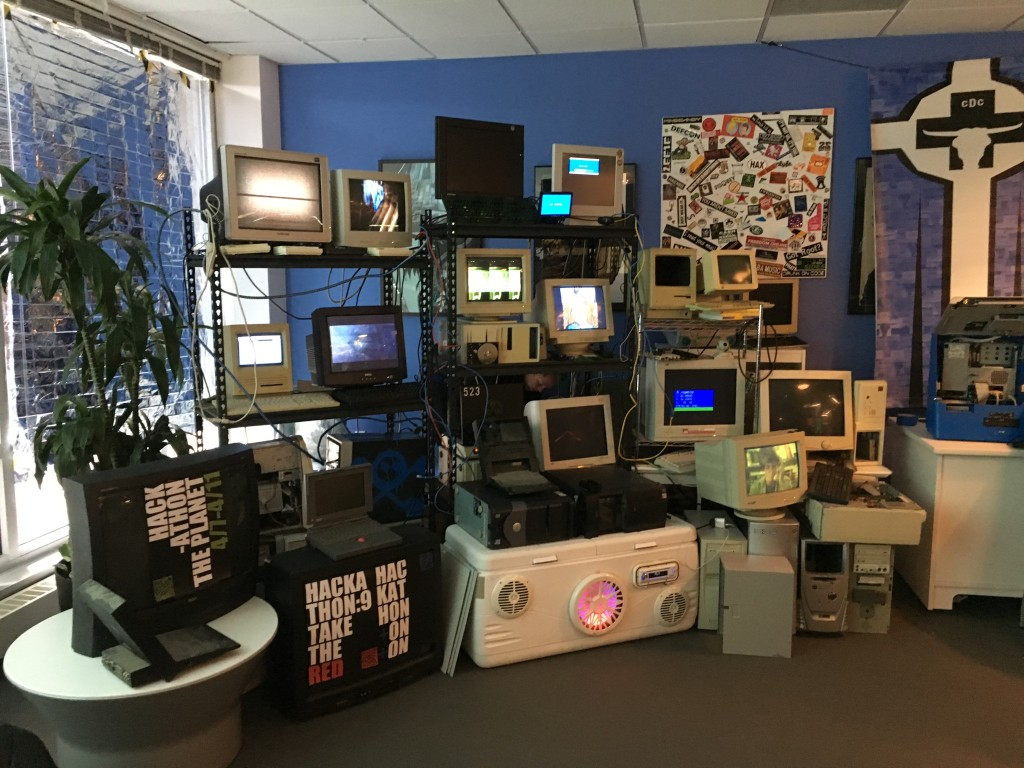 Wall of obsolete hardware