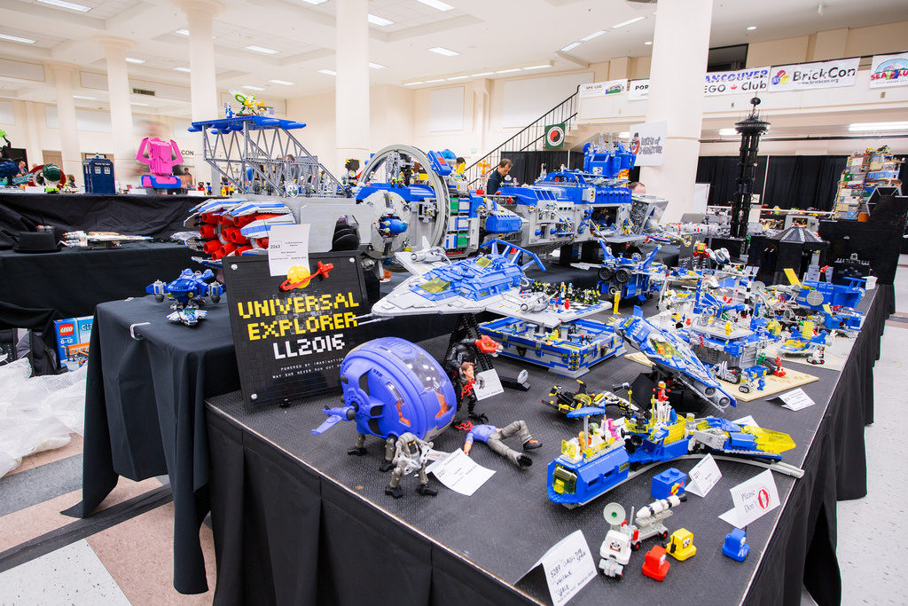 Fan-built massive Lego spaceship from BrickCon 2016; photo courtesy Tom Alphin/Flickr
