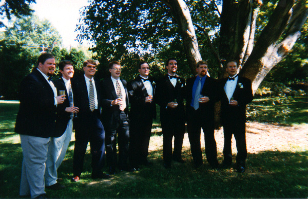 Former Glee Club members at my wedding.